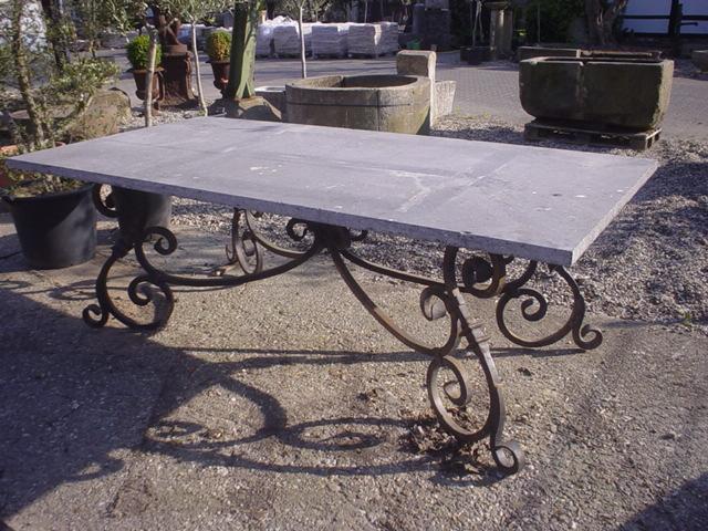 Gartentisch Mit Blausteinplatte Fachwerk Antik